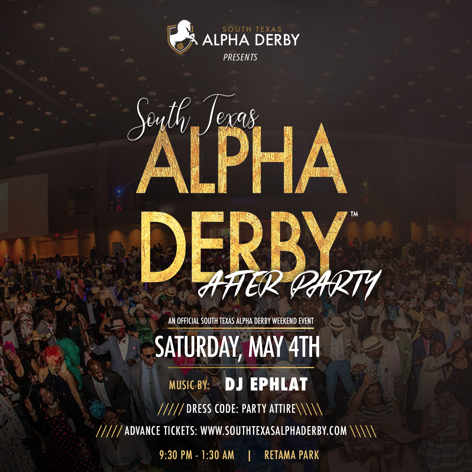 Alpha Derby Official After Party Flyer